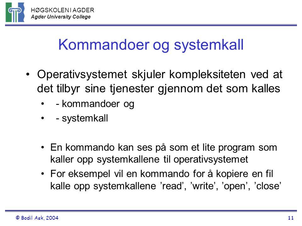 Kommandoer og systemkall
