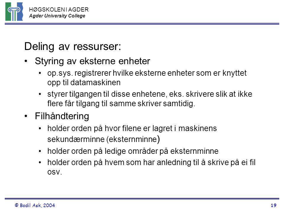 Deling av ressurser: Styring av eksterne enheter Filhåndtering