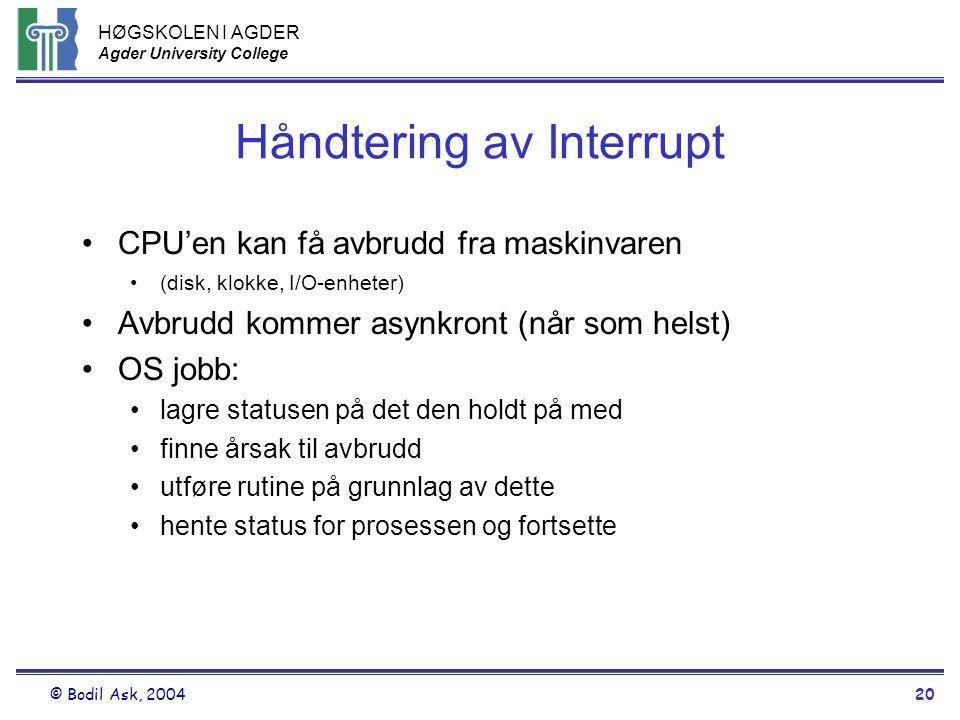 Håndtering av Interrupt