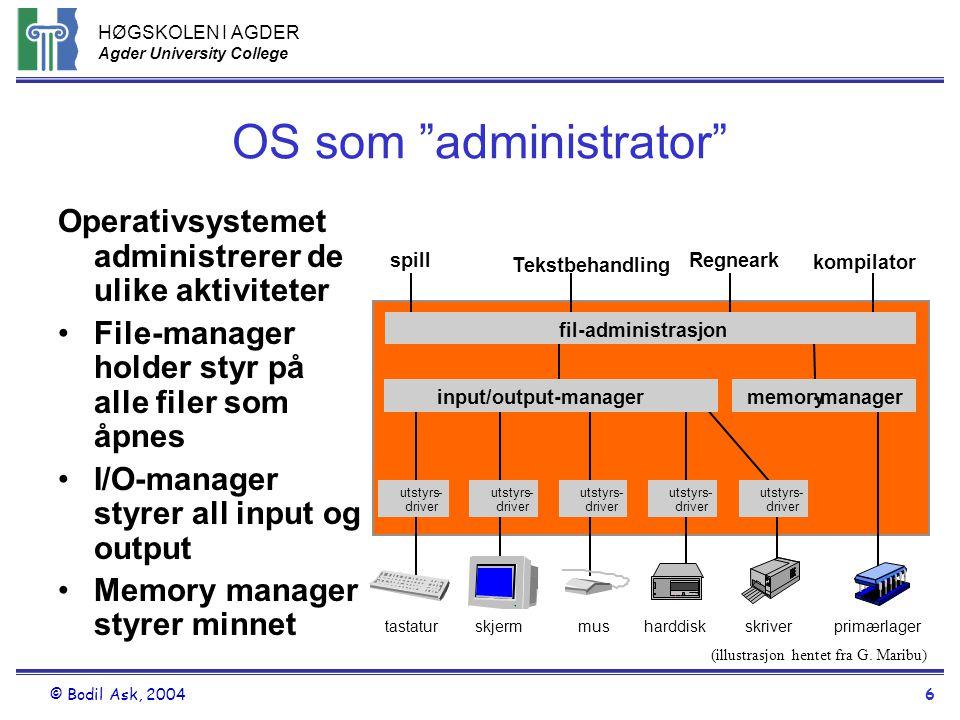 OS som administrator