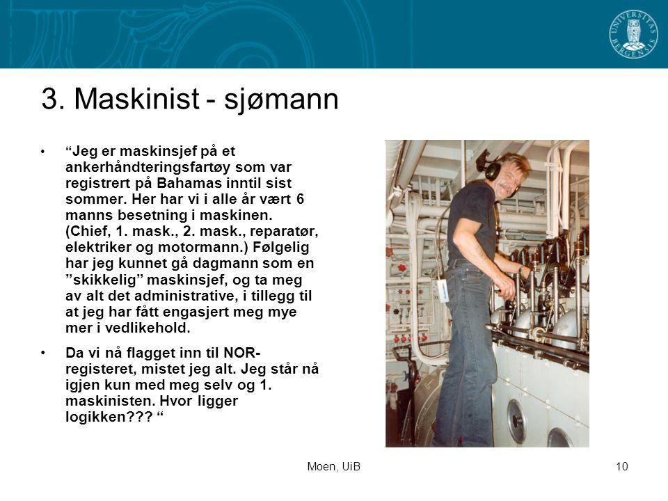 3. Maskinist - sjømann