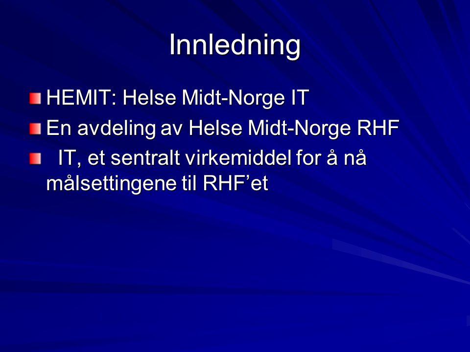 Innledning HEMIT: Helse Midt-Norge IT