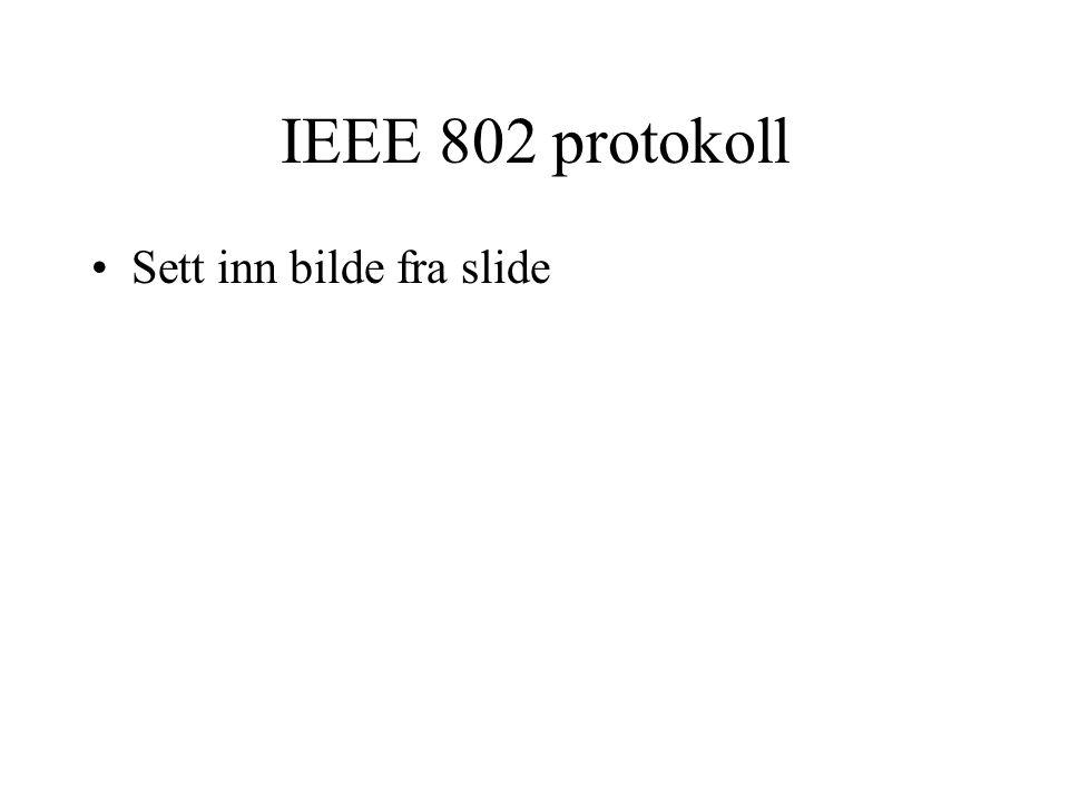 IEEE 802 protokoll Sett inn bilde fra slide