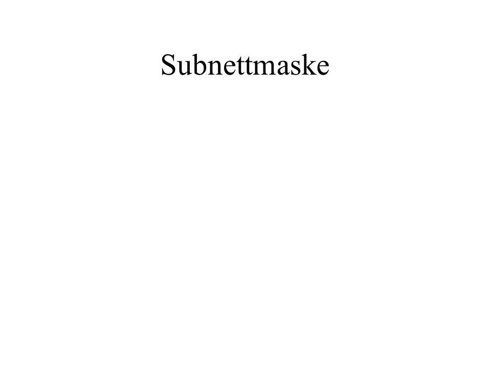 Subnettmaske