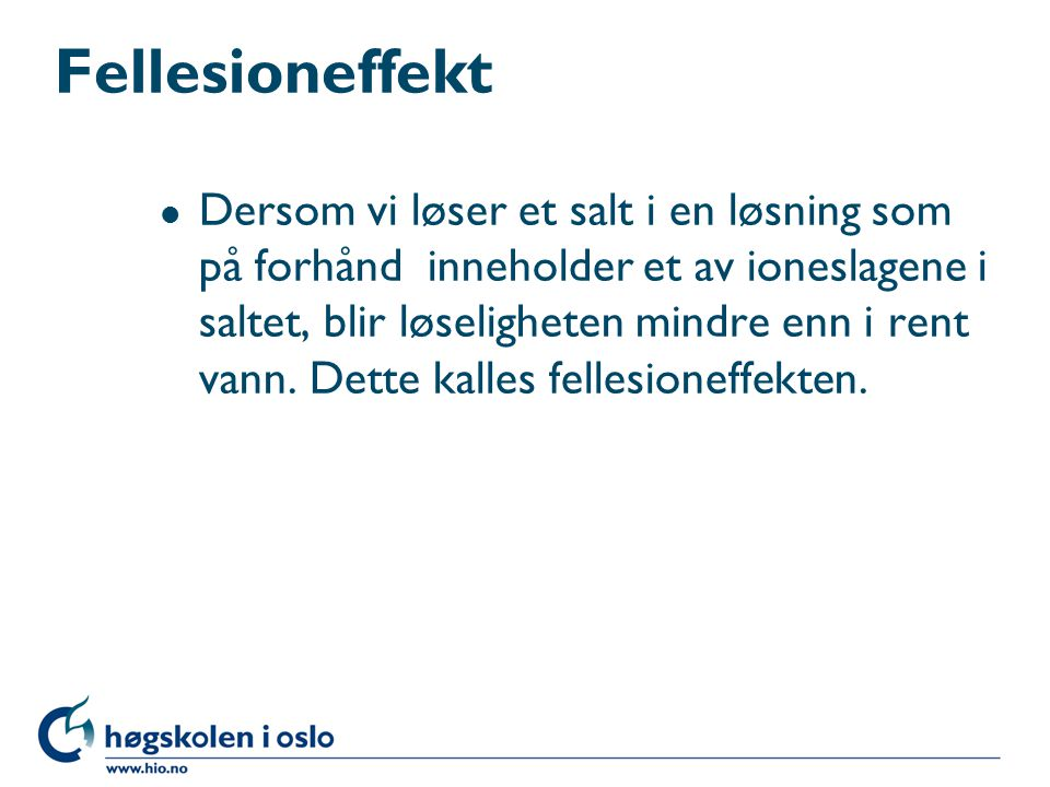 Fellesioneffekt