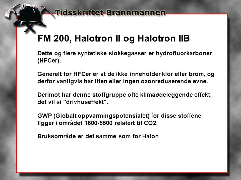FM 200, Halotron II og Halotron IIB