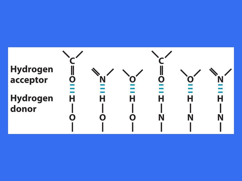 Hydrogen akseptor er oftest oksygen eller nitrogen