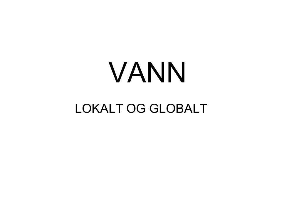 VANN LOKALT OG GLOBALT