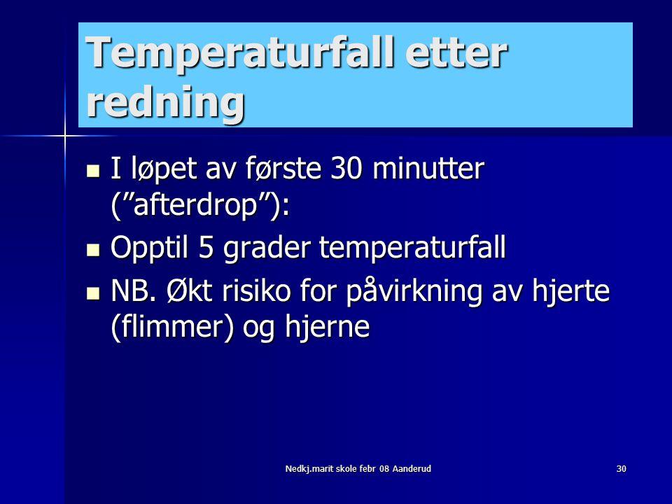 Temperaturfall etter redning