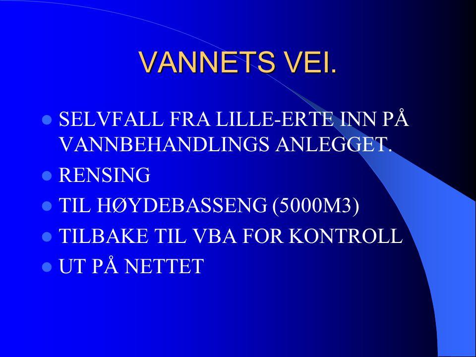 VANNETS VEI. SELVFALL FRA LILLE-ERTE INN PÅ VANNBEHANDLINGS ANLEGGET.