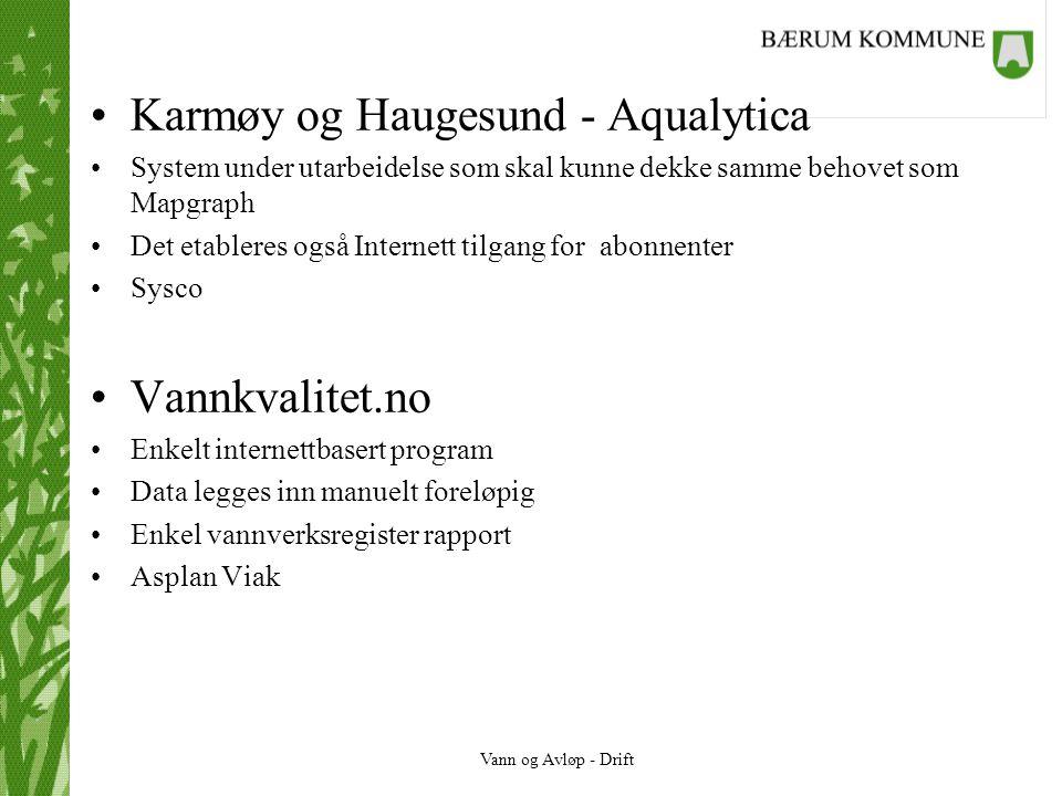 Karmøy og Haugesund - Aqualytica