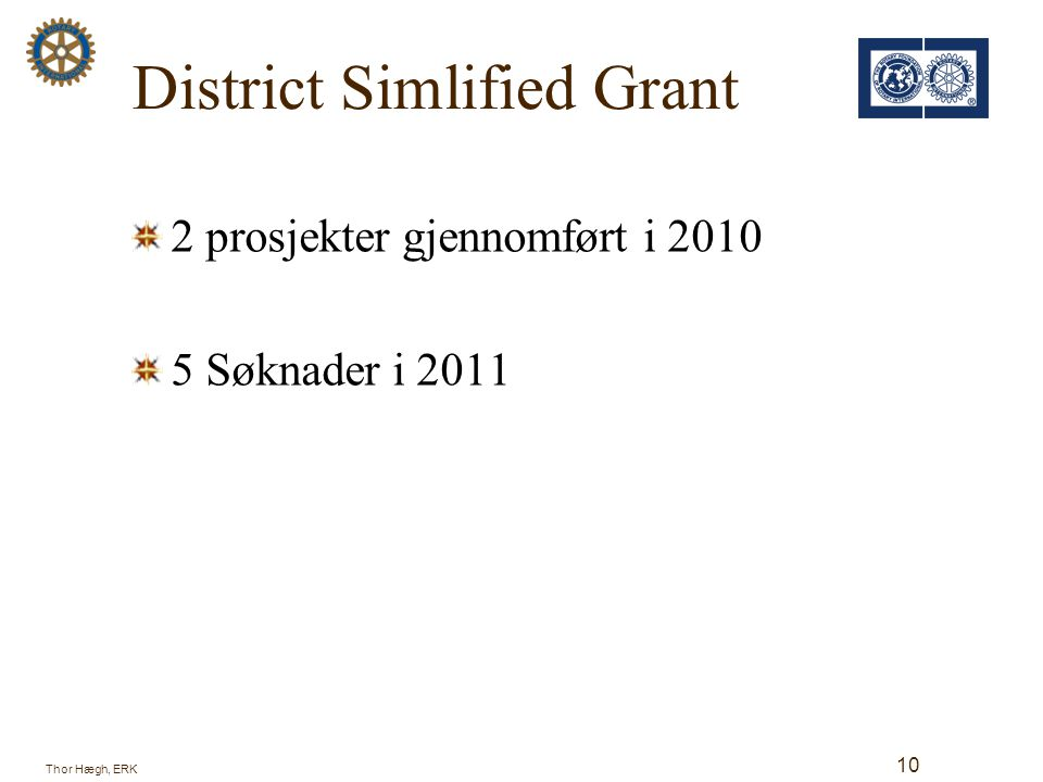 District Simlified Grant