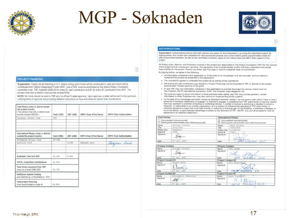 MGP - Søknaden Thor Hægh, ERK