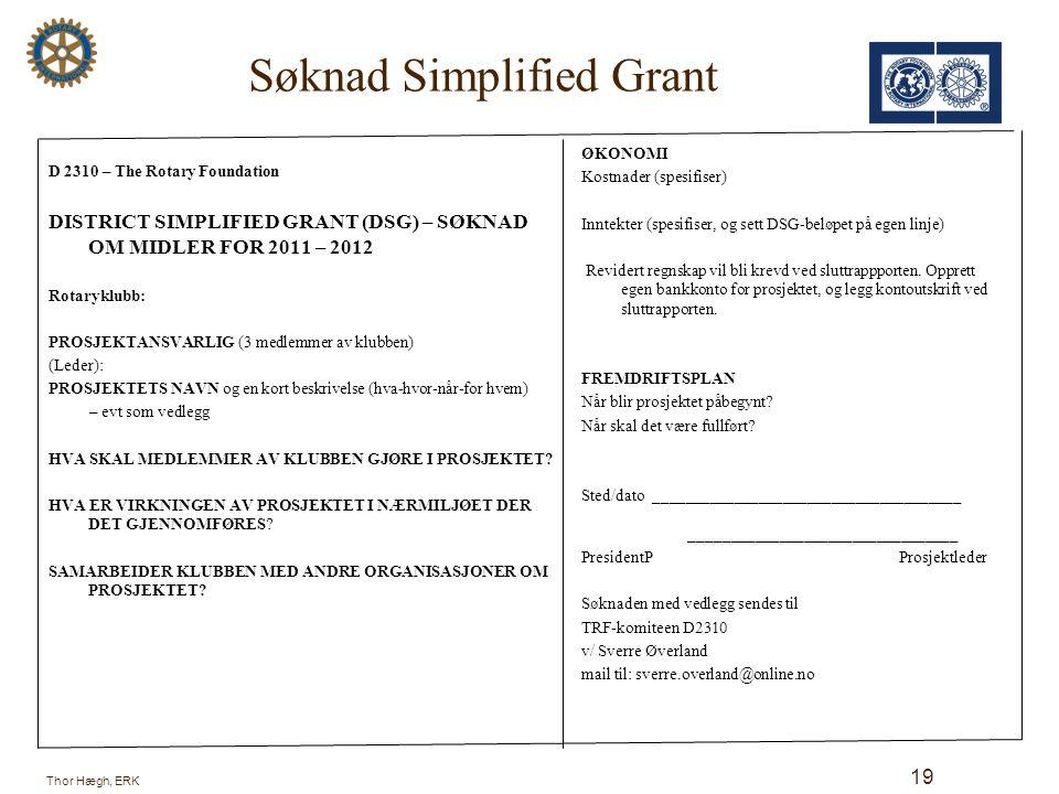 Søknad Simplified Grant