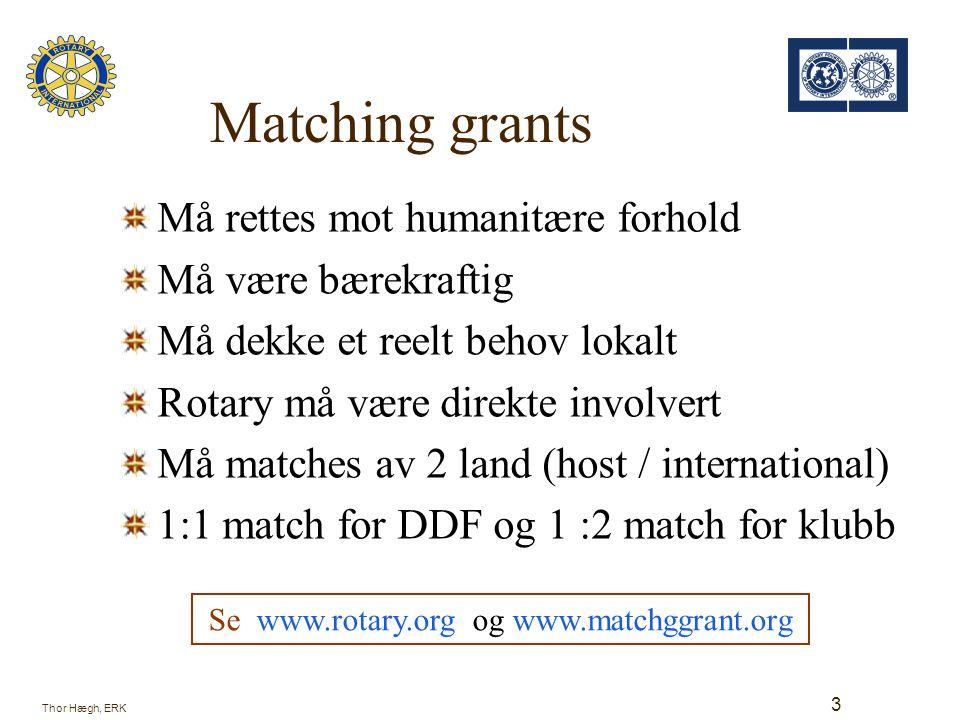 Se www.rotary.org og www.matchggrant.org