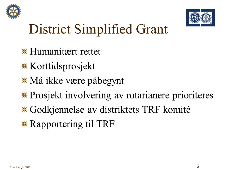 District Simplified Grant