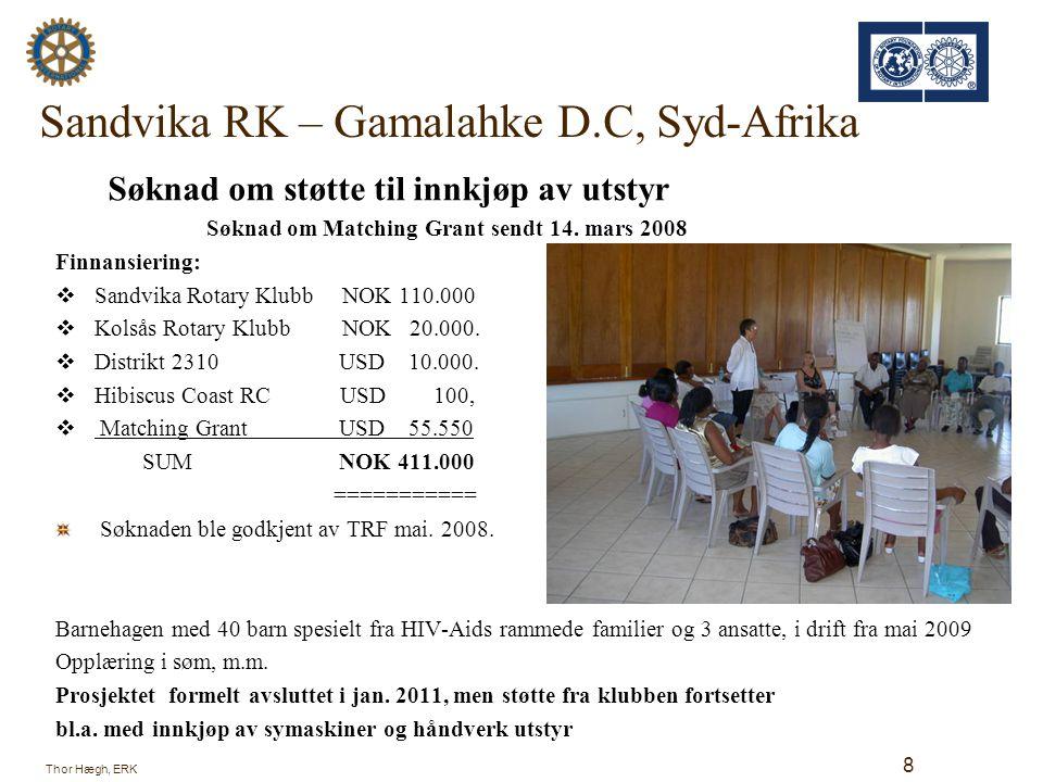 Sandvika RK – Gamalahke D.C, Syd-Afrika