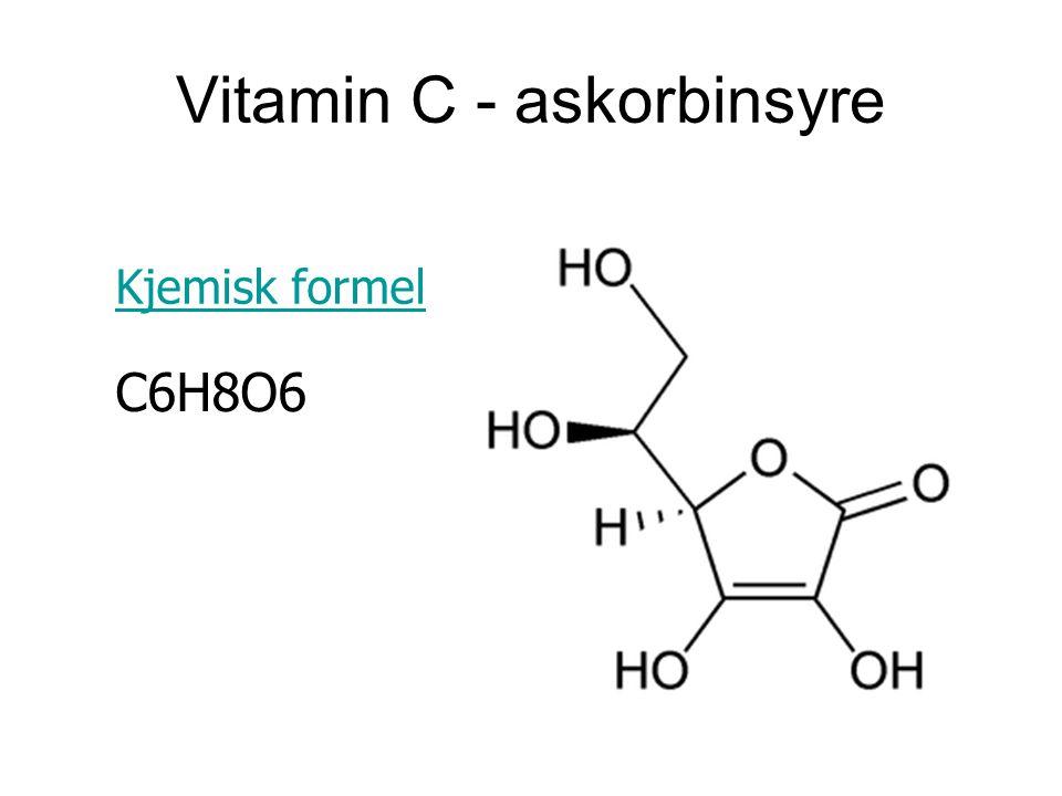Vitamin C - askorbinsyre