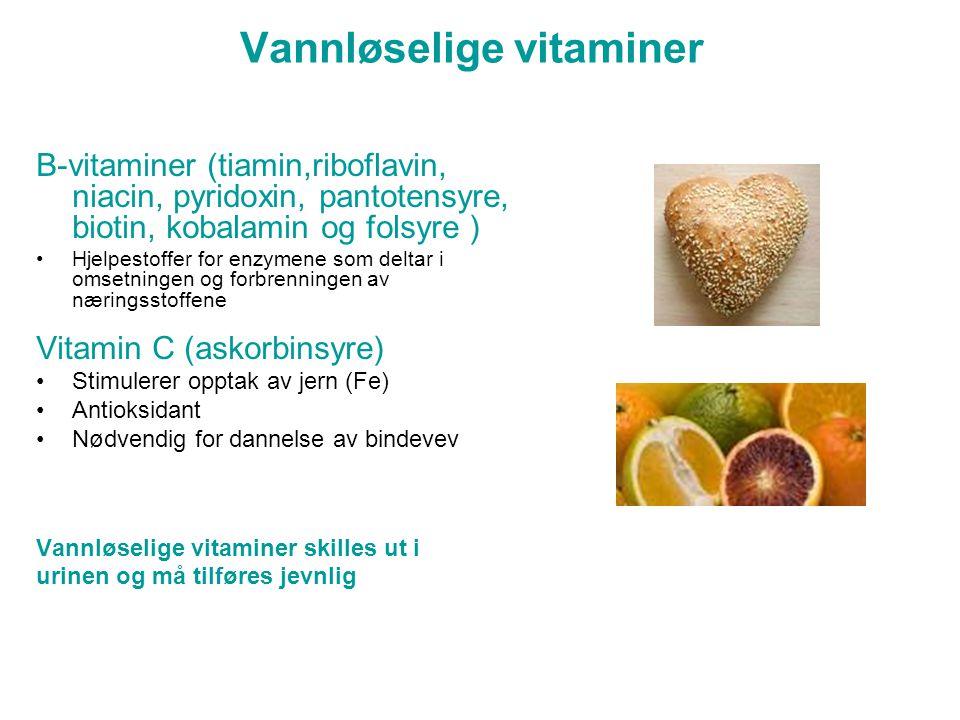 Vannløselige vitaminer