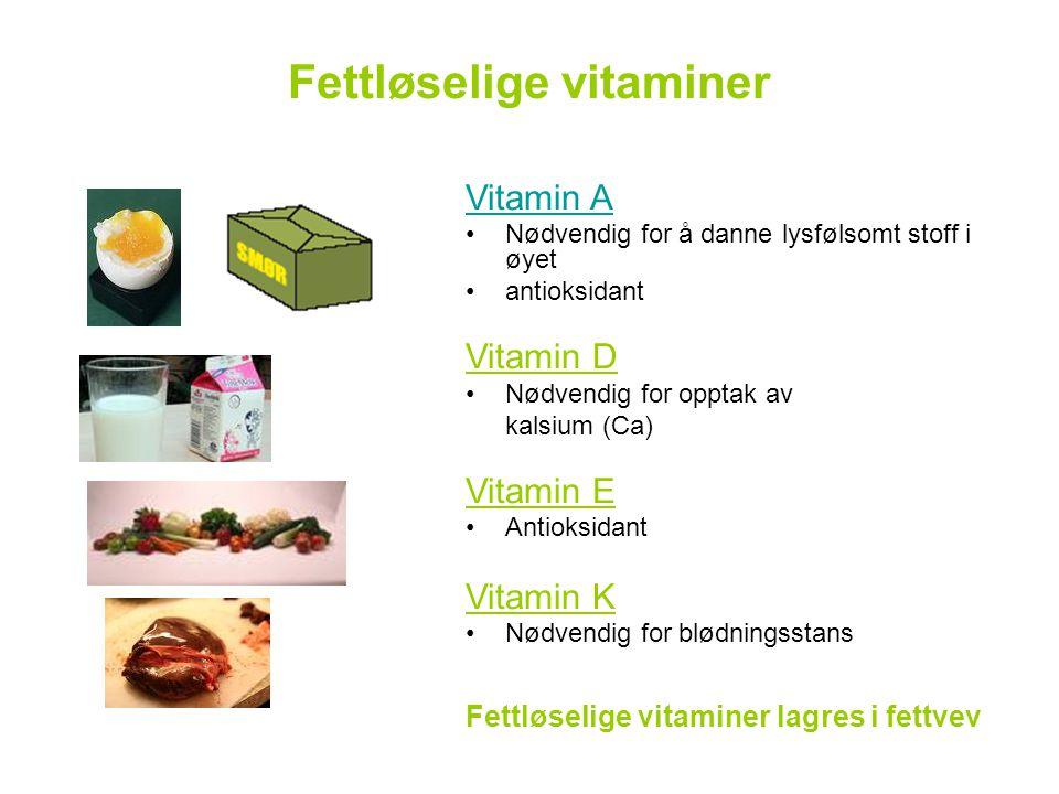 Fettløselige vitaminer