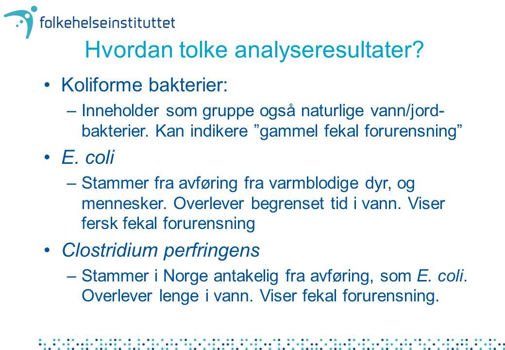 Hvordan tolke analyseresultater