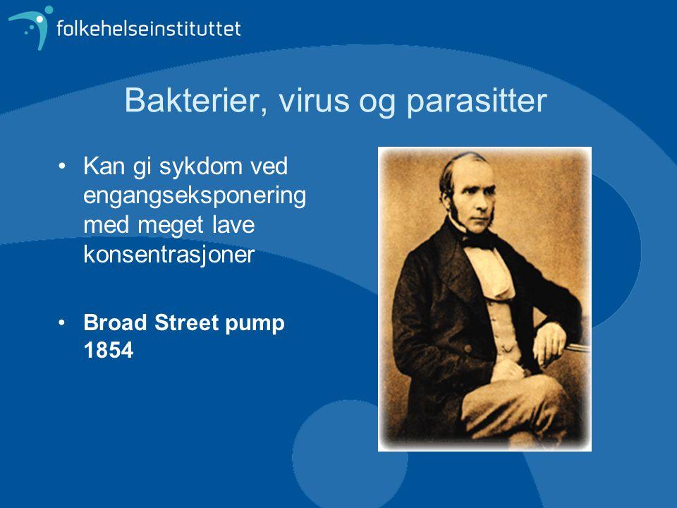 Bakterier, virus og parasitter