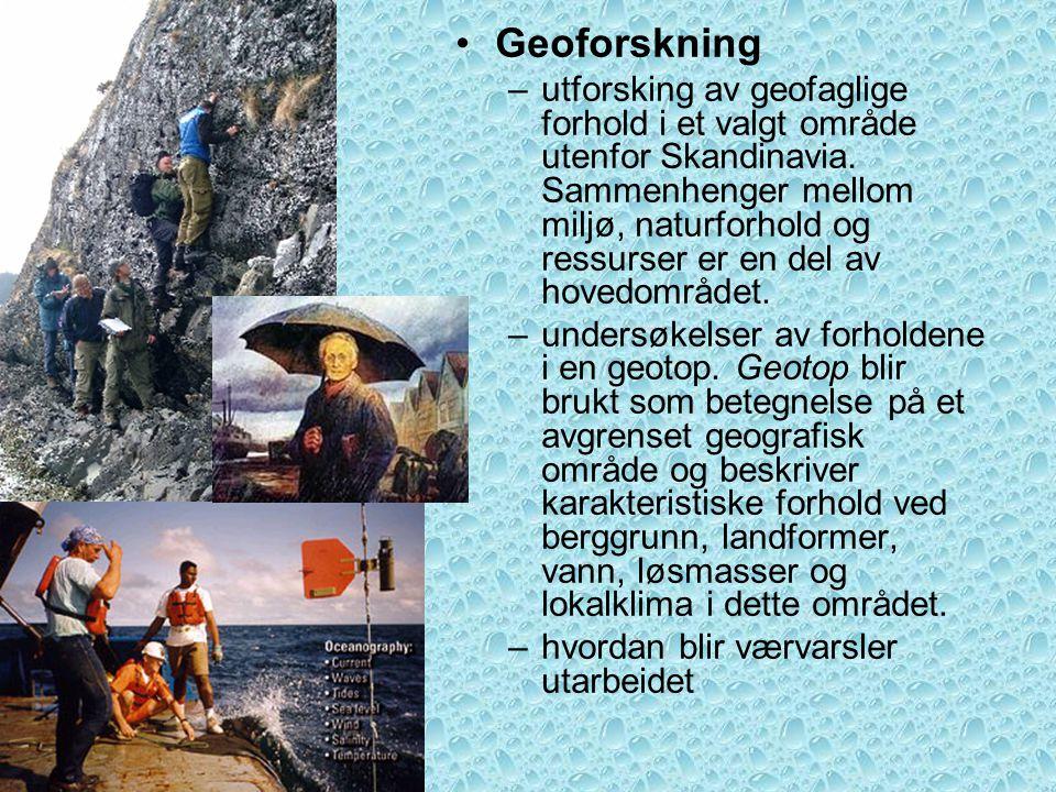 Geoforskning