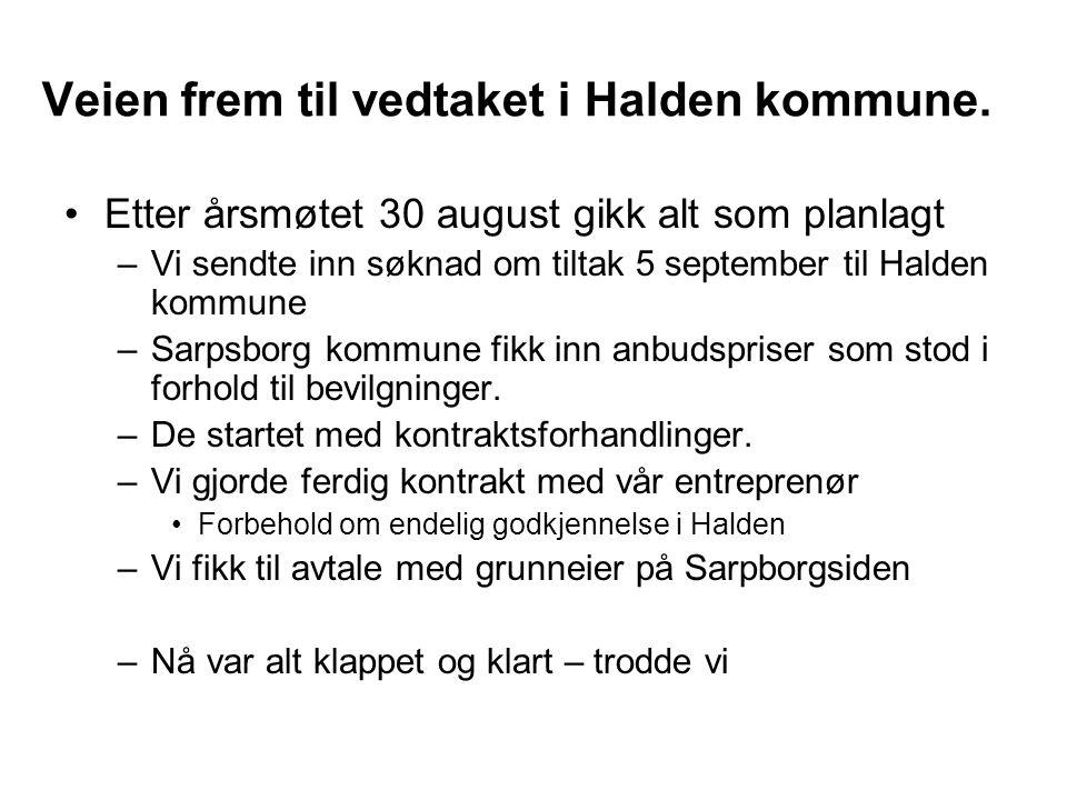 Veien frem til vedtaket i Halden kommune.