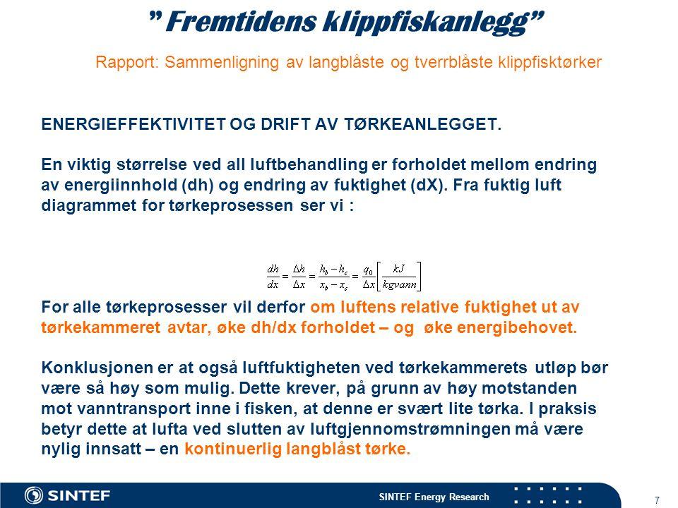Fremtidens klippfiskanlegg Rapport: Sammenligning av langblåste og tverrblåste klippfisktørker