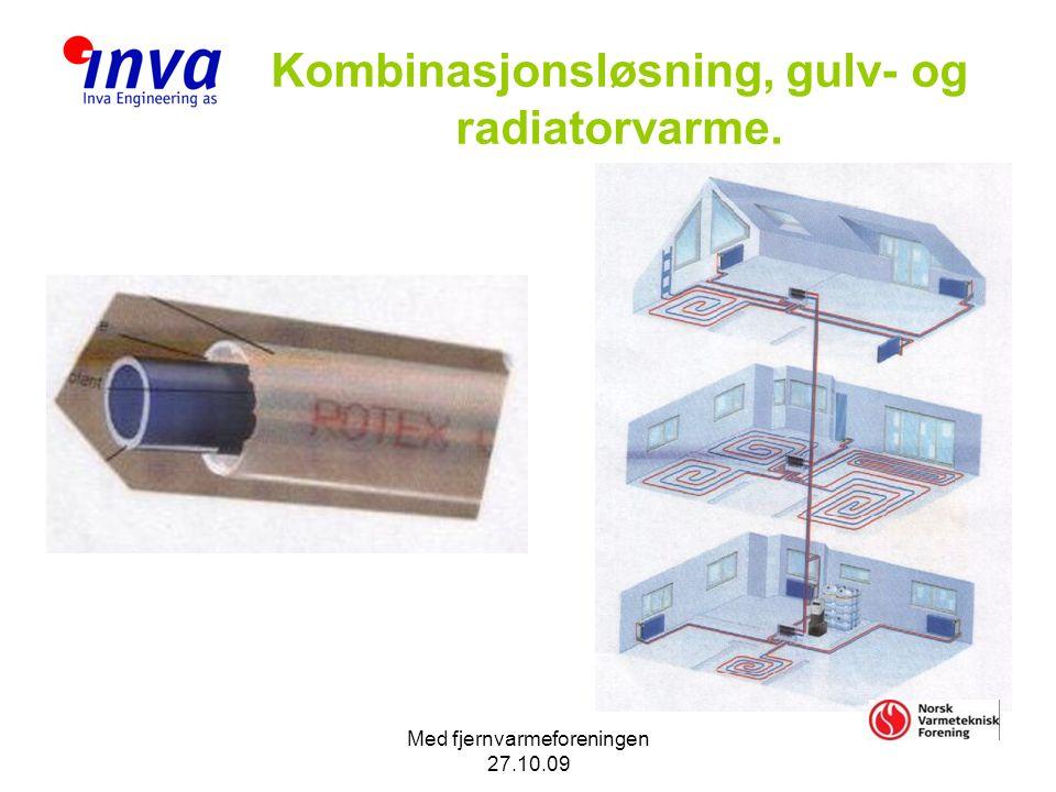 Kombinasjonsløsning, gulv- og radiatorvarme.
