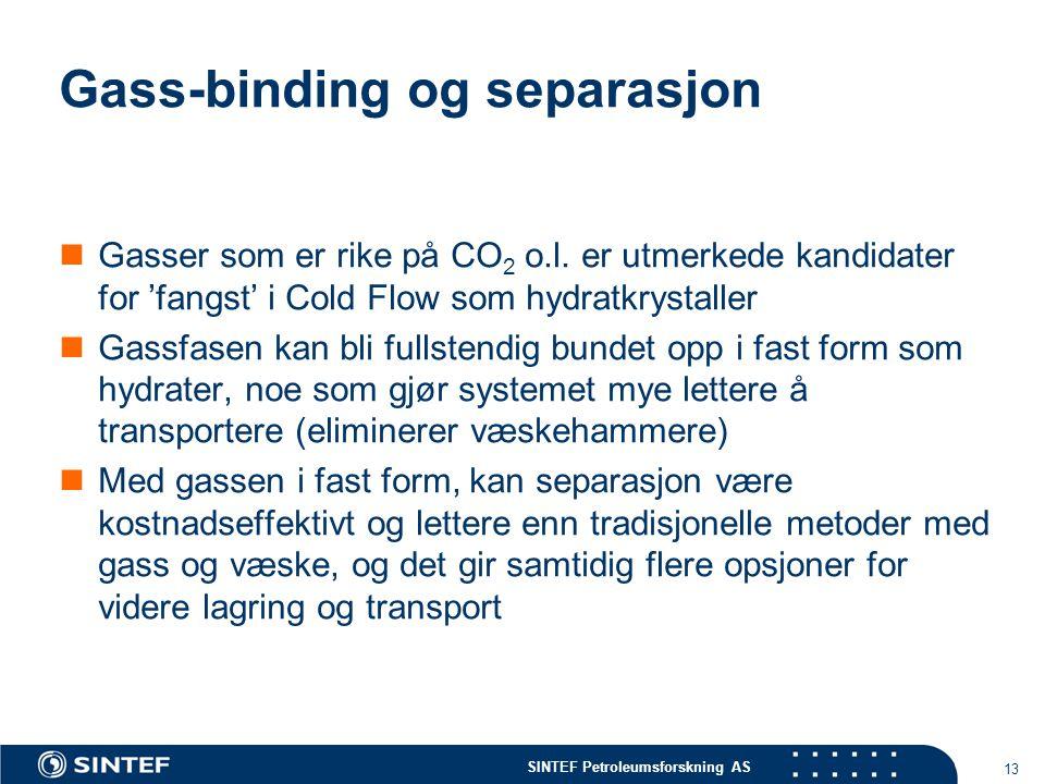 Gass-binding og separasjon