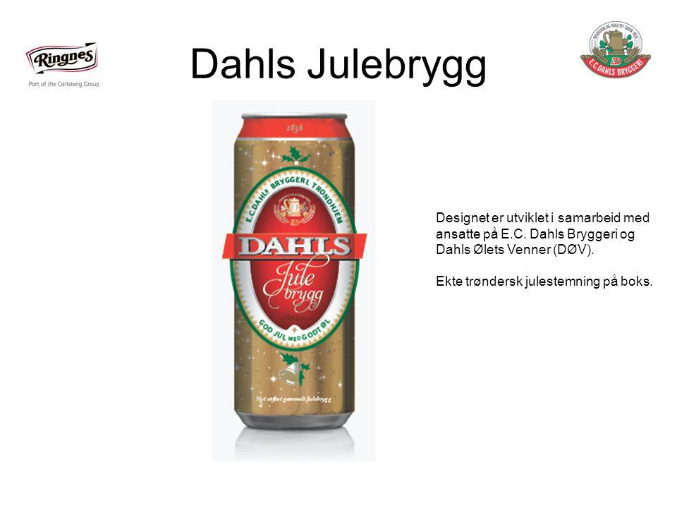 Dahls Julebrygg Designet er utviklet i samarbeid med ansatte på E.C. Dahls Bryggeri og Dahls Ølets Venner (DØV).