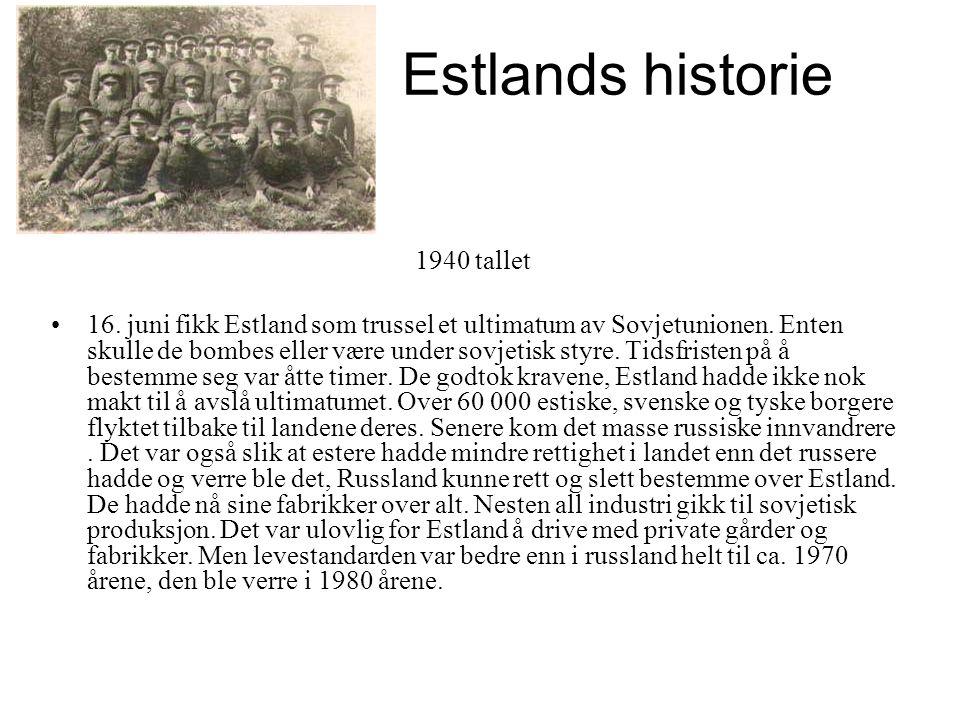 Estlands historie 1940 tallet