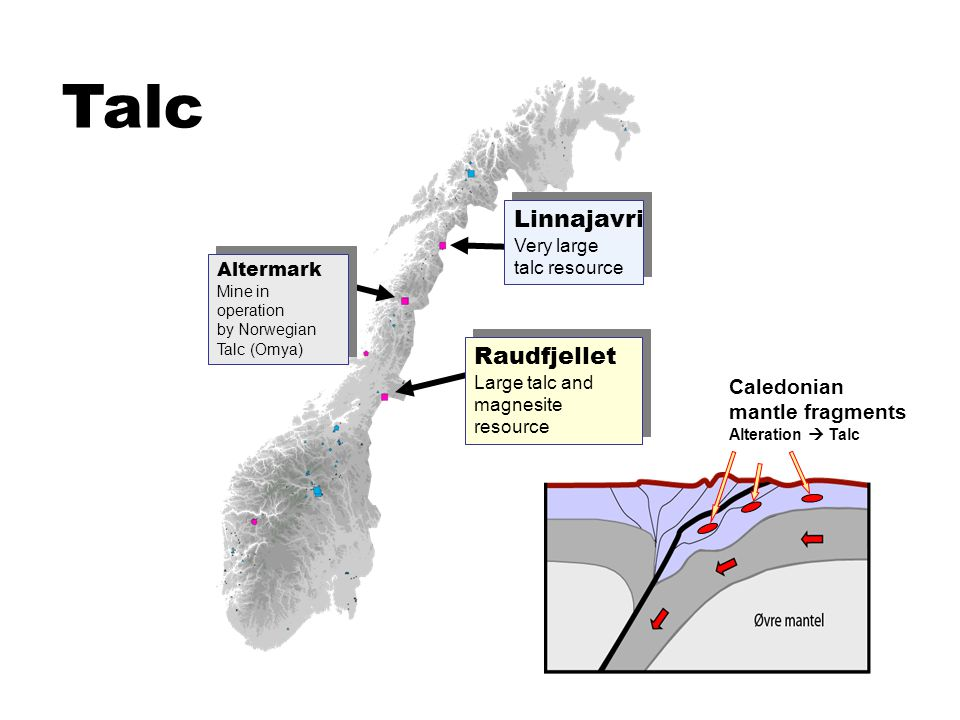 Talc Linnajavri Very large talc resource Raudfjellet