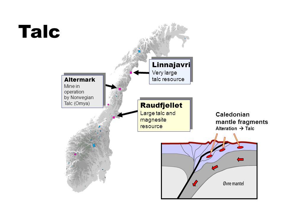Talc Linnajavri Very large talc resource Raudfjellet