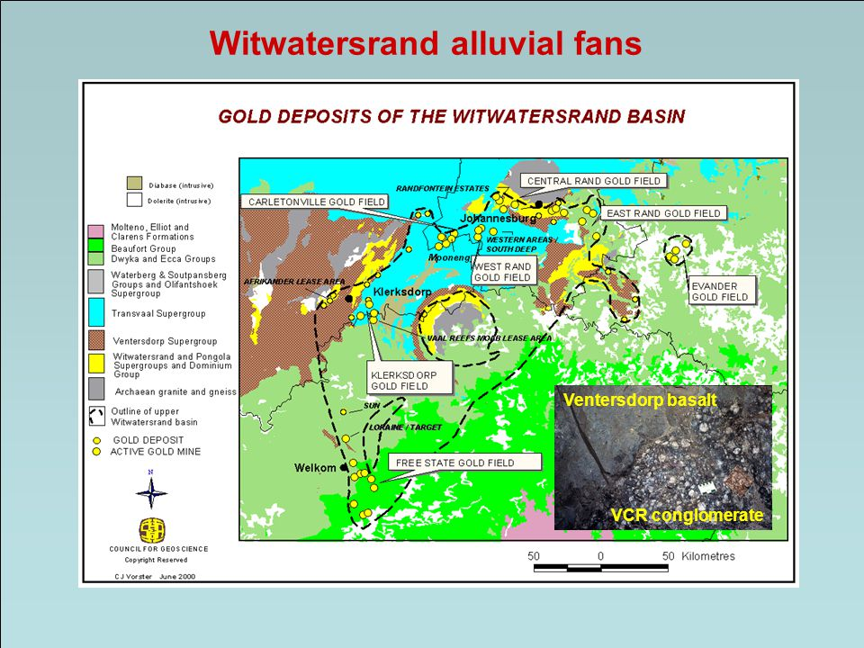 Witwatersrand alluvial fans