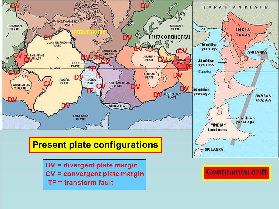 Present plate configurations