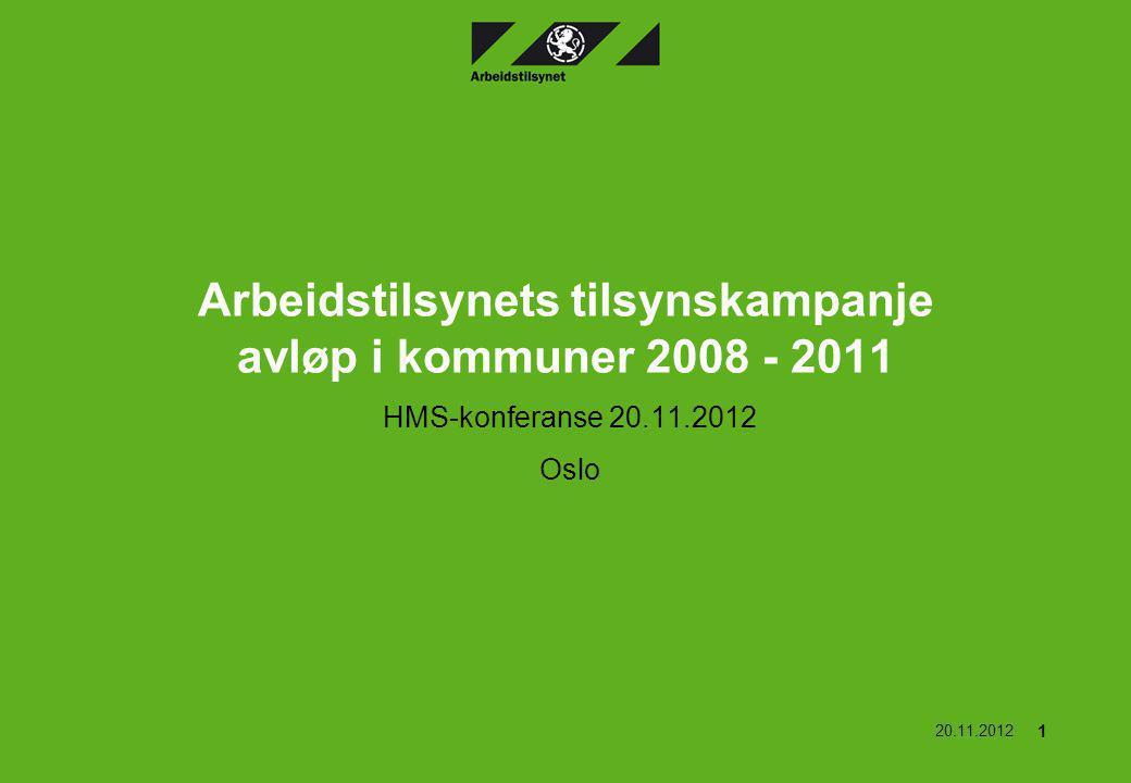 Arbeidstilsynets tilsynskampanje avløp i kommuner 2008 - 2011