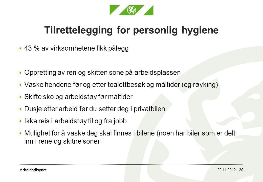 Tilrettelegging for personlig hygiene