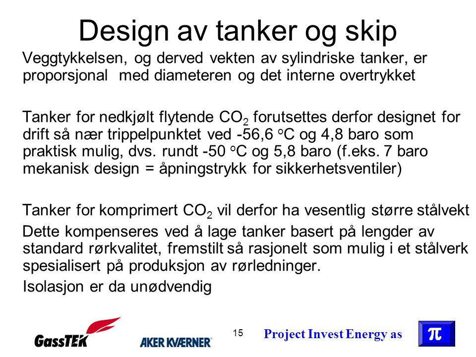 Design av tanker og skip