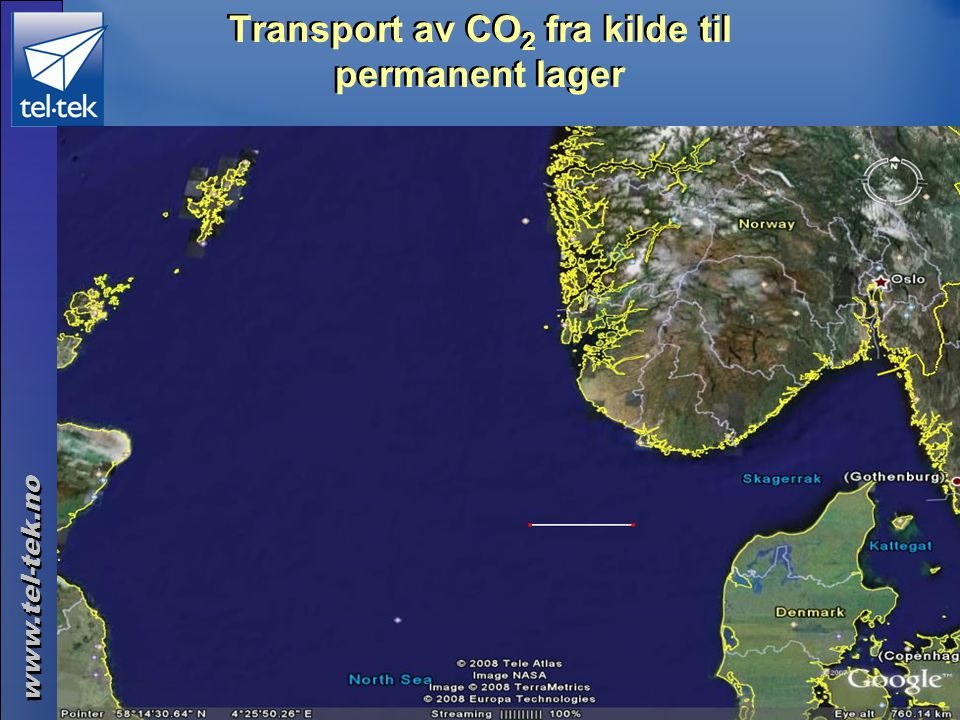 Transport av CO2 fra kilde til permanent lager