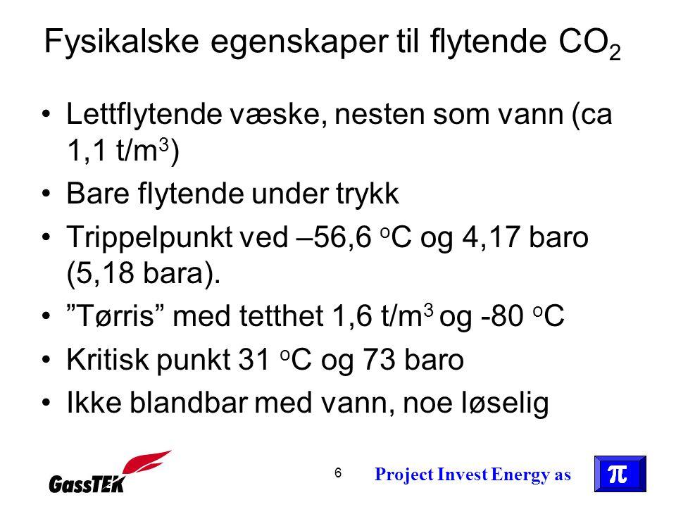 Fysikalske egenskaper til flytende CO2