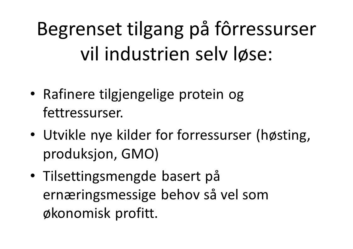 Begrenset tilgang på fôrressurser vil industrien selv løse: