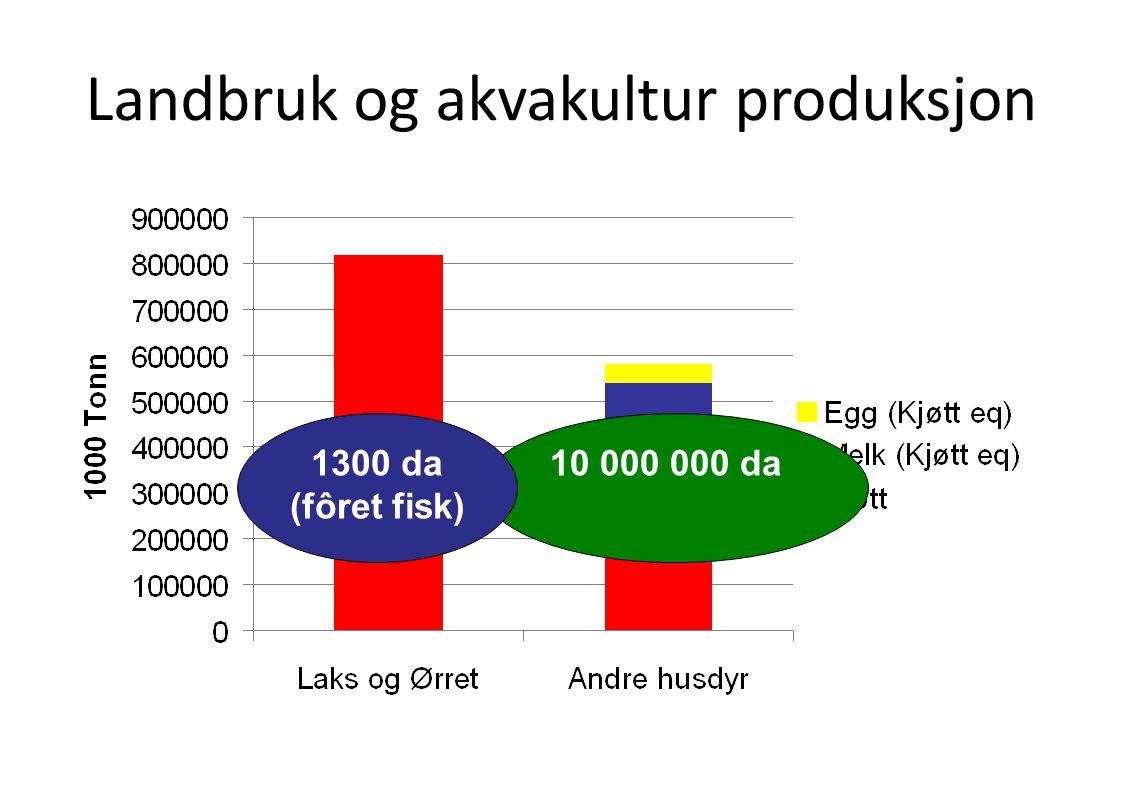 Landbruk og akvakultur produksjon