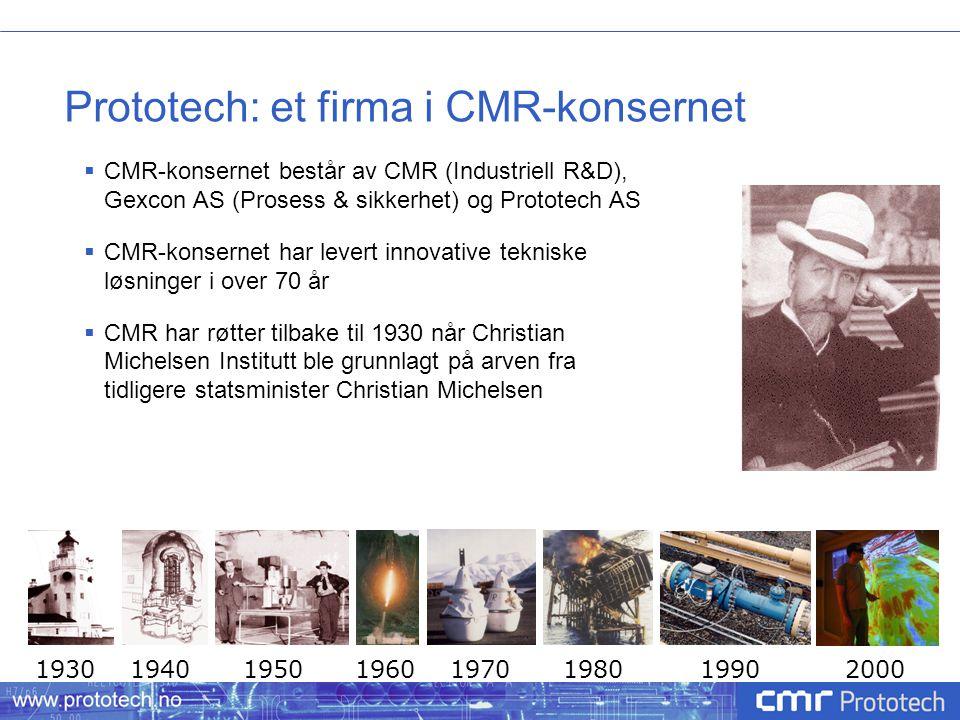 Prototech: et firma i CMR-konsernet