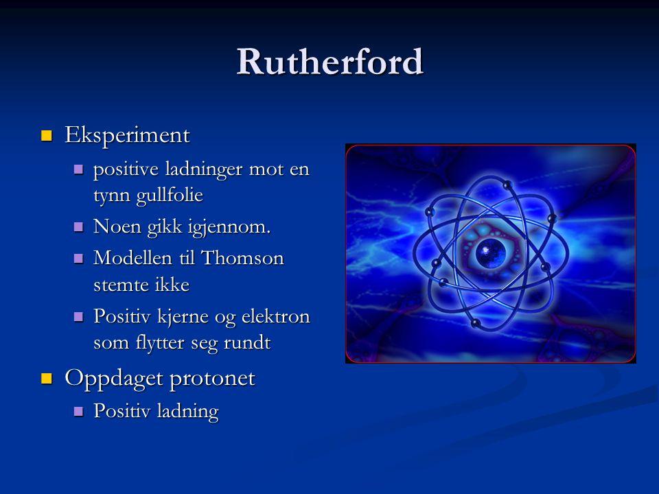 Rutherford Eksperiment Oppdaget protonet