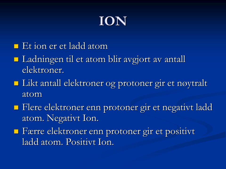 ION Et ion er et ladd atom