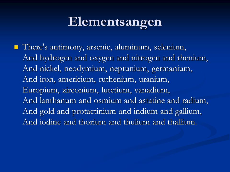 Elementsangen