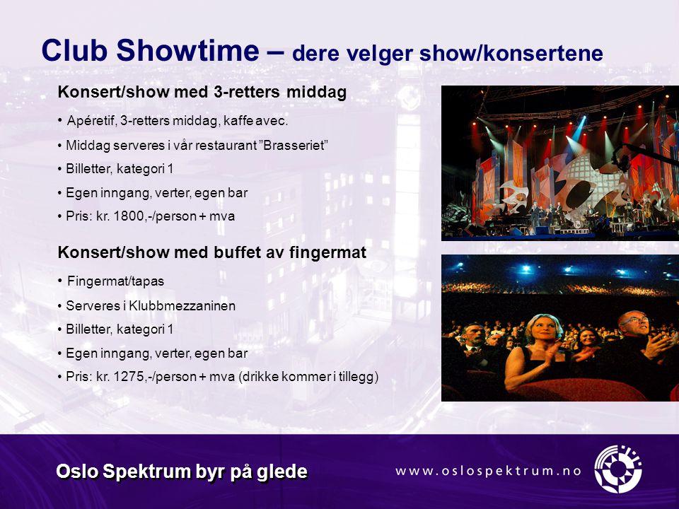Oslo Spektrum byr på glede