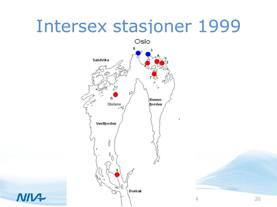 Intersex stasjoner 1999